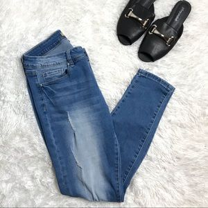 RAW High Waisted Flattering Fit Blue Skinny Jeans